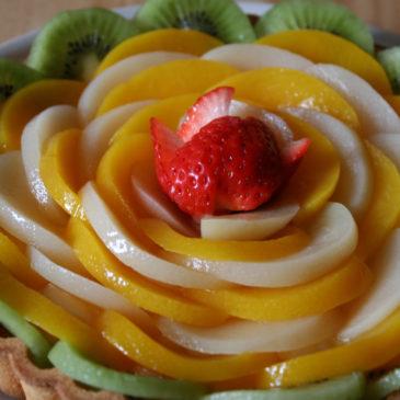 お花のフルーツタルト