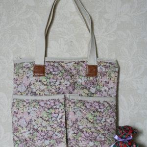 LIBERTYプリントで作ったバッグです。