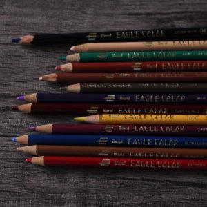 2016.9.19 秋冬をイメージして選んだ色鉛筆たち。
