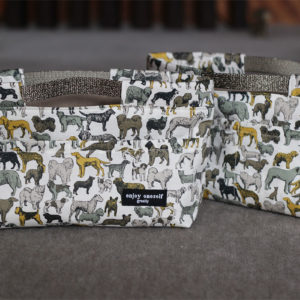 LIBERTYプリントで作ったバッグインバッグ。可愛いし使い勝手も良さそうなので、同じものを私もリクエスト♡妹・作。