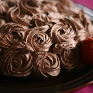 チョコクリームのローズケーキ。(習作)https://lavoro-libero.com/?p=4080