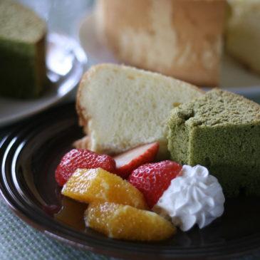 2種類のシフォンケーキ
