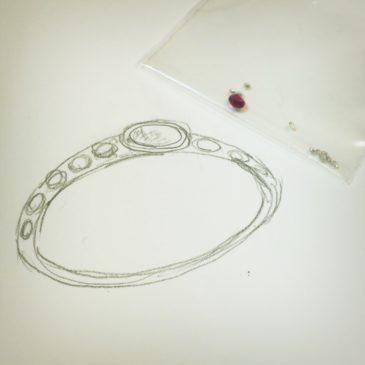 ルビーとダイヤモンドのリング(1)