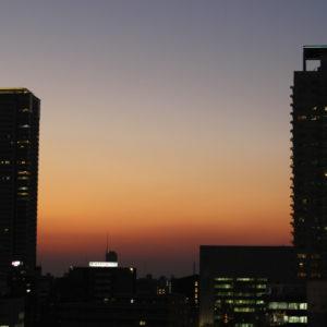 2017・12・22 冬至の日の夕焼け。