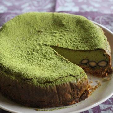 黒豆入り抹茶クリームチーズケーキ