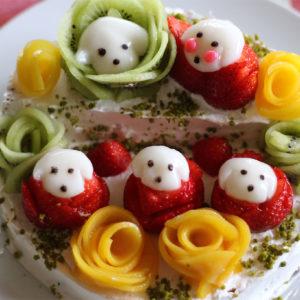 レオ白玉のひな祭りケーキ♡