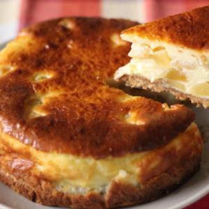 リンゴのベイクドチーズケーキ♡