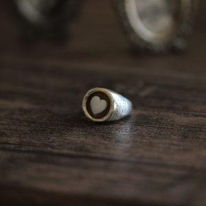 リメイクしたカメオのリング。(素材:シルバー925)